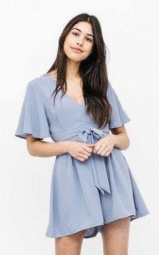 Jumpsuit Roos - V-neck playsuit with waist-tie