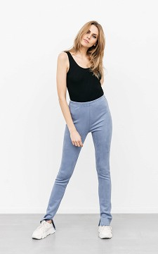 Trousers Sora - Suède-look trousers with splits