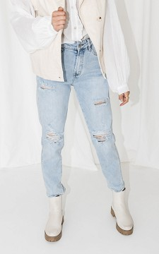 Jeans Julius - Mid-waist jeans with destroyed details