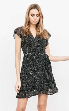 Dress Beril - Patterned, V-neck dress