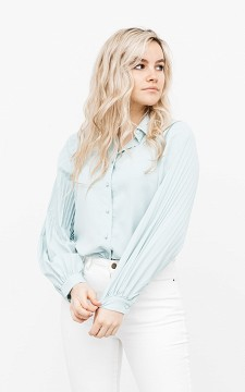 Blouse Fiep - Blouse with plissé sleeves