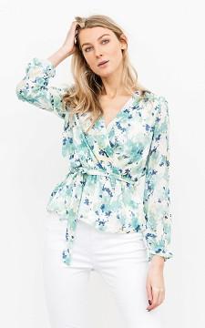 Top Milly - Floral patterned, V-neck top