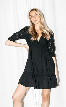Dress Michiel - Dress with embroidered details