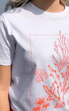 T-shirt Koraal -