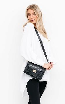 Bag Angela - Leather bag with gold-coated details