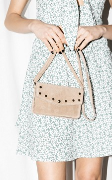 Bag Lizzy - Suède bag with gold-plated details