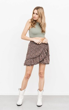 Skirt Cella - Patterned, wrap-around skirt