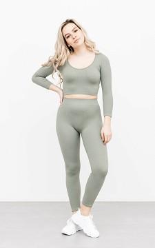 Legging Sofy - Stretchy legging met een rib detail