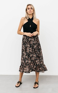 Skirt Jennifer - Patterned, wrap-around skirt