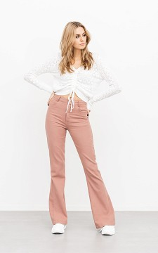 Trousers Demi - Flared trousers with pockets