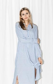 Jurk Plien - Maxi jurk met knoopjes