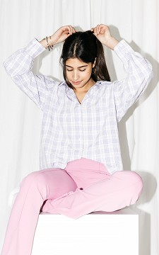 Blouse Jorieke - Oversized geblokte blouse
