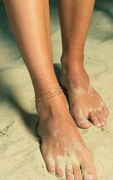 Ankle Bracelet Britt - Set of gold-coated anklets