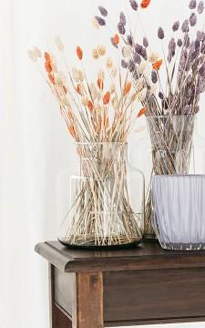 Vase Eline - Clear glass, handmade vase