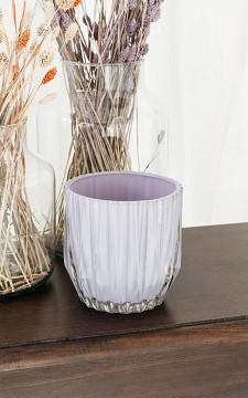 Vase Sofy - Rund Vase mit Relief-Design