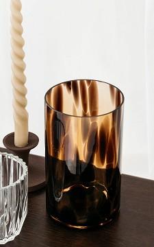 Vase Elske - Round, panther patterned vase