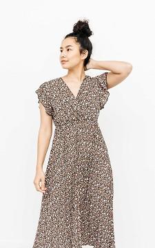 Jurk Yolanthe - Plissé jurk met print