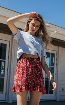 Skirt Femmie - Patterned skirt with ruffles