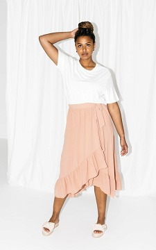 Skirt Silvana - Wrap-around skirt with a waist tie