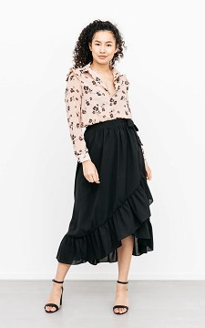 Skirt Silvana - Wrap-around skirt with a waist tie