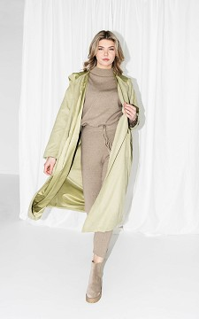 Jas Marieke - Oversized trenchcoat met strikdetail