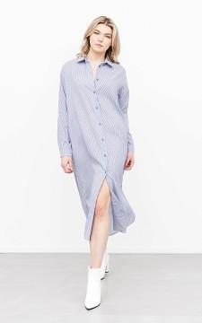 Kleid Hermien - Langes Hemdkleid mit Streifen