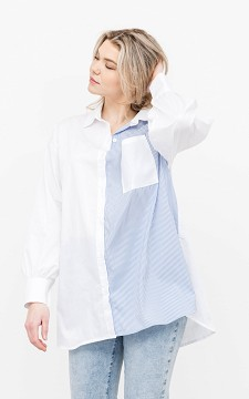 Blouse Timon - Patterned blouse with a chest pocket