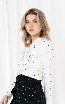 Blouse Cheryl - Polka dot patterned blouse