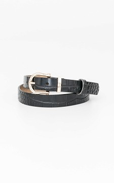 Belt Marissa - Basic leather belt