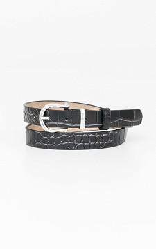 Gürtel Marissa - Schmaler Ledergürtel im Schlangen-Look