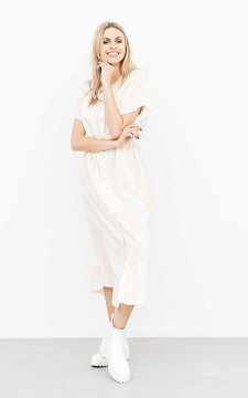 Jurk Sandy - Maxi jurk met knoopjes en strikdetail
