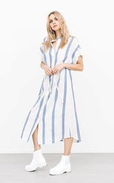 Kleid Sandy - Maxikleid mit Knopfleiste und Bindegürtel