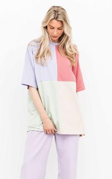 Shirt Olga - Oversized shirt met kleur vakken