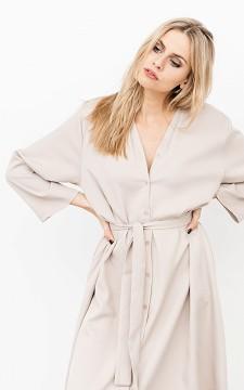 Kleid Desira - Elegantes Midikleid mit Bindeschleife