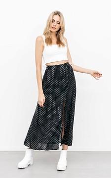 Skirt Dana - Patterned skirt with a front split
