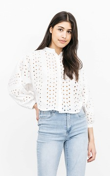 Top Katrien - Embroidered top with buttons