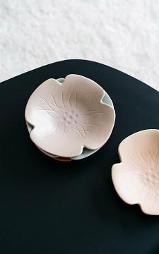 Schaaltje Bloom - Keramiek bloem schaaltje met reliëf