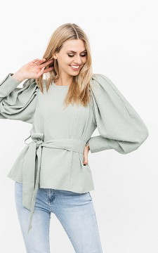 Blouse Silvia - Blouse with a waist tie