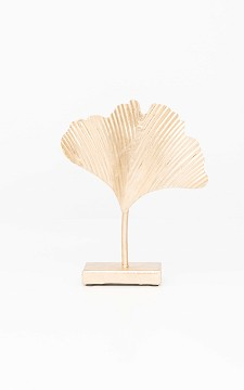 Standard Ginko - Gold-plated leaf decoration on a stand