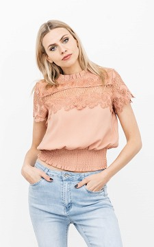 Top Viva - Lace, high collar top