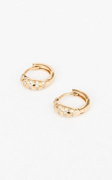 Earrings Nicolette - Stainless steel hoop earrings