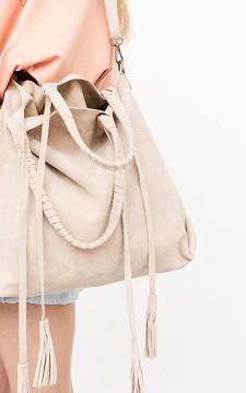 Bag Kelly - Suède bag with fringes