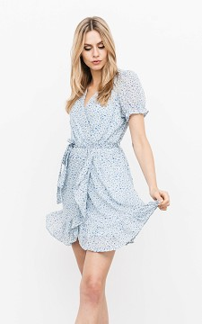 Jurk Bodile - V-hals jurk met strikdetail
