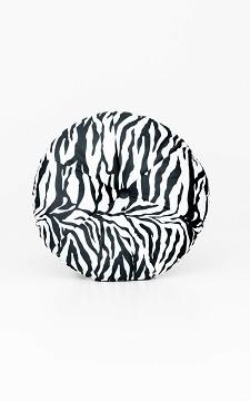 Kissen Femke - Rundes Kissen mit Zebraprint