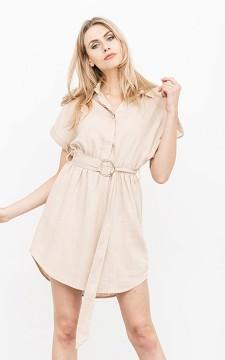 Dress Katerina - Short sleeve dress with a belt