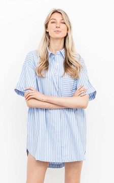 Blouse Demi - Oversized blouse with a single chest pocket
