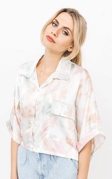 Bluse Jocelyn - Coole Cropped Batik-Bluse