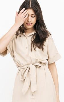 Kleid Jemeli - Langes Kleid mit Brusttasche
