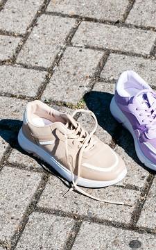 Sneaker Serena - Sneaker met leatherlook details