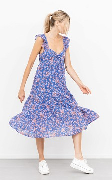 Jurk Kamilla - Midi jurk met ruffle detail